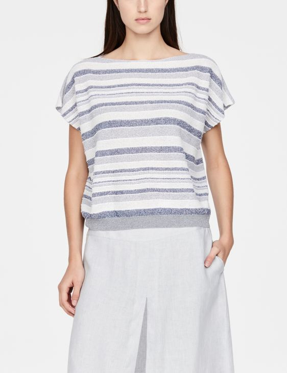 Sarah Pacini Cap sleeve sweater - faded stripes