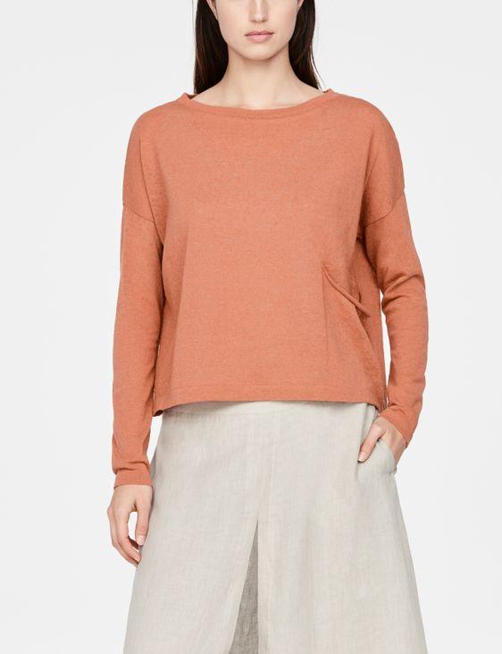 Sarah Pacini Linen-cotton sweater - cropped