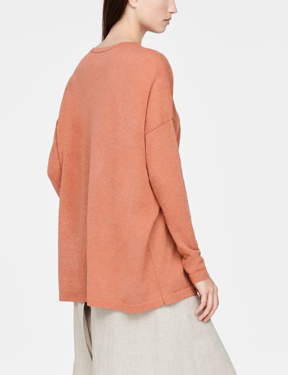 Sarah Pacini Linen cotton sweater - pocket