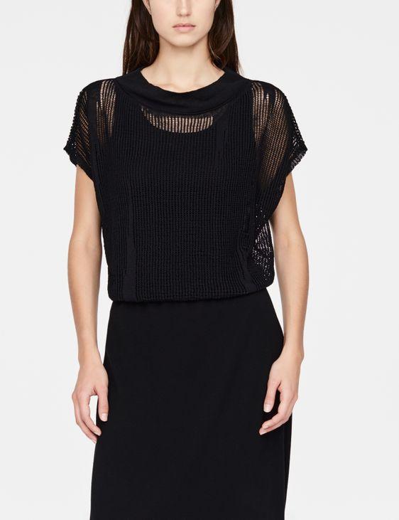 Sarah Pacini trui met gaatjes - kapmouwen