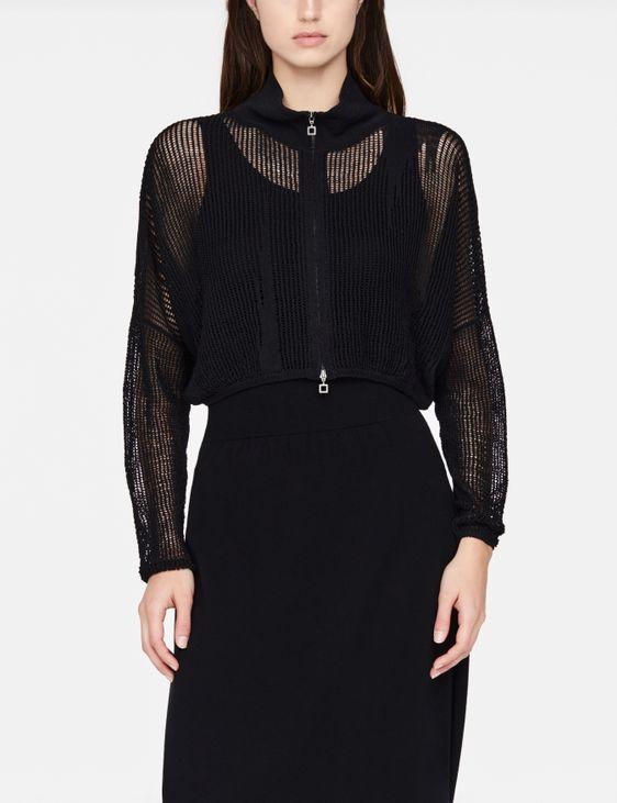 Sarah Pacini Linen cardigan - perforated