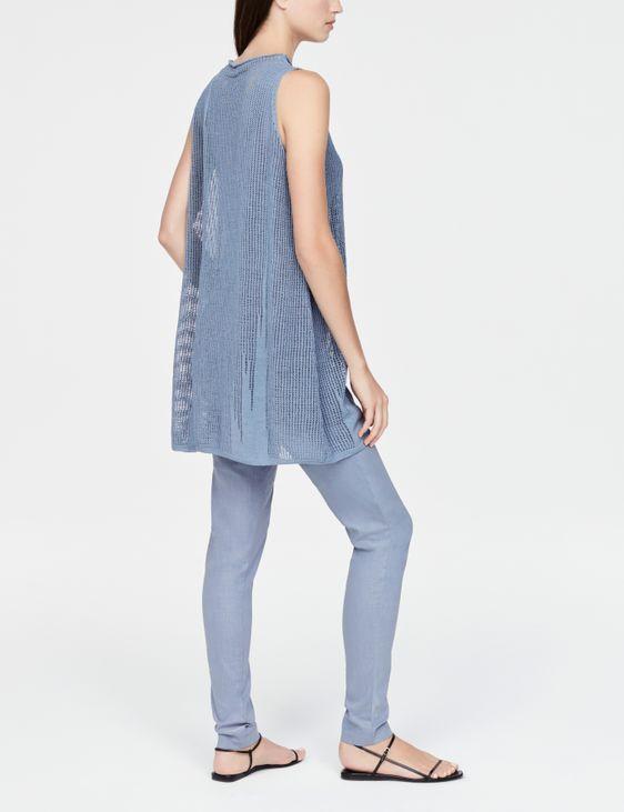 Sarah Pacini Robe en lin - motif perforé