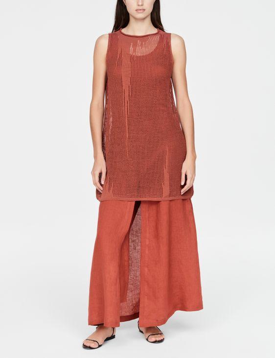 Sarah Pacini Linnen jurk - geperforeerd