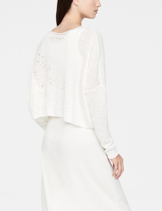 Sarah Pacini korte linnen trui - mandala