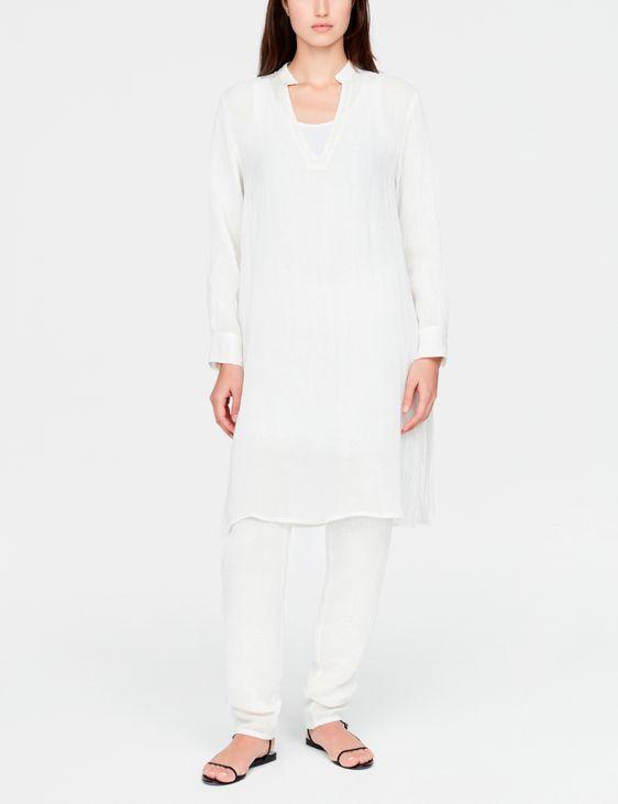 Sarah Pacini Leinenhemd - Rustikal gewebt