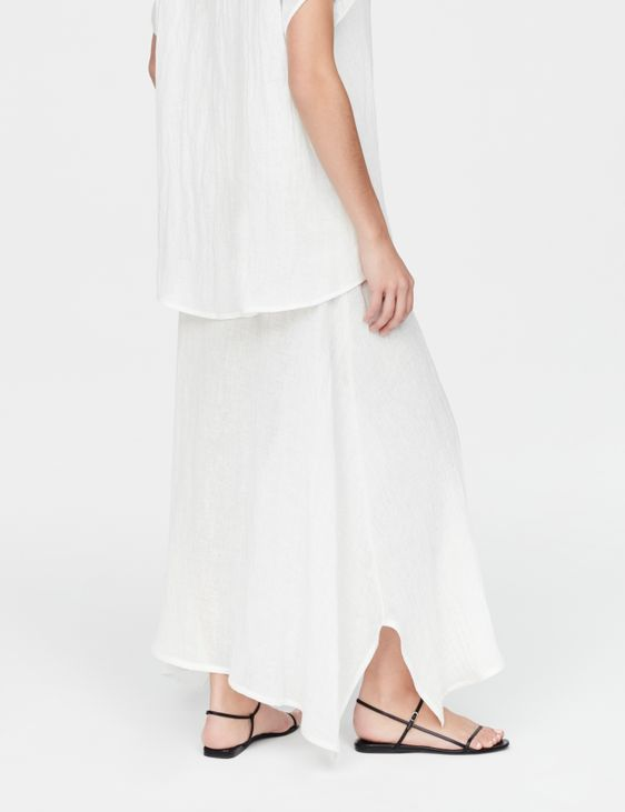 Sarah Pacini Linen skirt - rustic weave