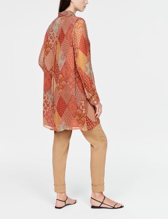Sarah Pacini Long shirt - patchwork