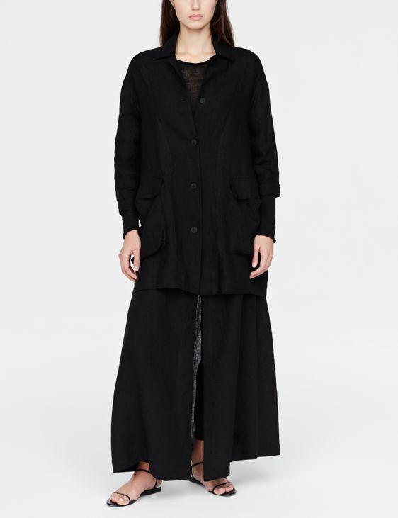 Sarah Pacini linnen jasje - buitenzakjes