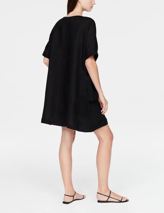 Sarah Pacini linnen jurk - korte mouwen