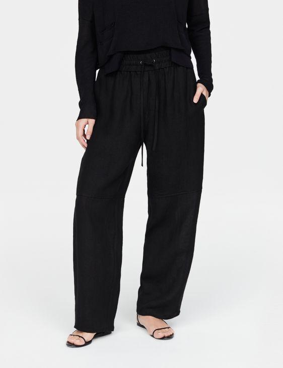 Sarah Pacini Pantalon en lin - cordon coulissant