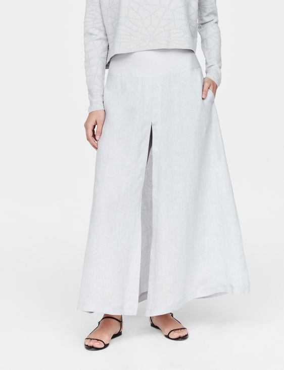 Sarah Pacini Pantalon en lin - panneaux