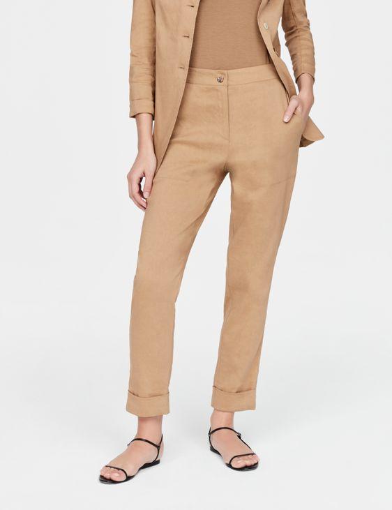 Sarah Pacini Linen pants - cuffed hem