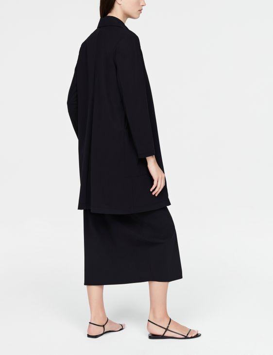 Sarah Pacini lange jas - ingesneden revers