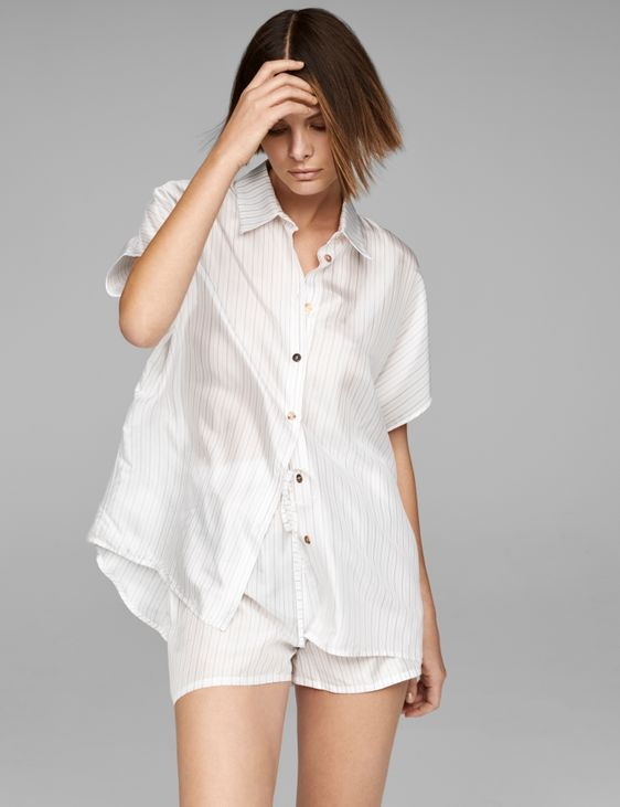 Sarah Pacini Leichtes Hemd mit Streifen