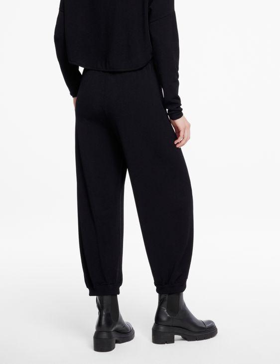 Sarah Pacini Pantalon en maille - bords élastiqués