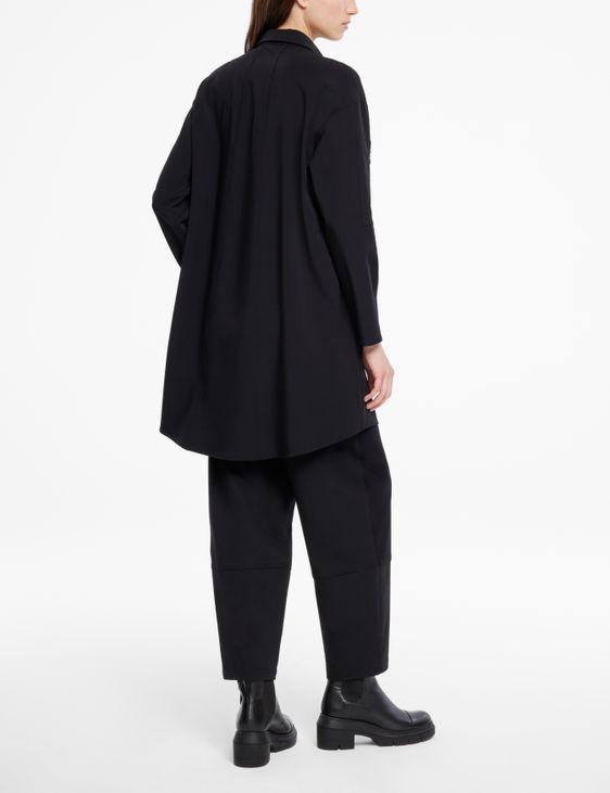 Sarah Pacini Kleid aus Gabardine - Details mit Reißverschluss