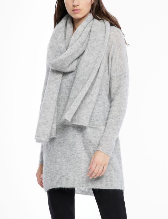 Sarah Pacini Mohair-merino scarf