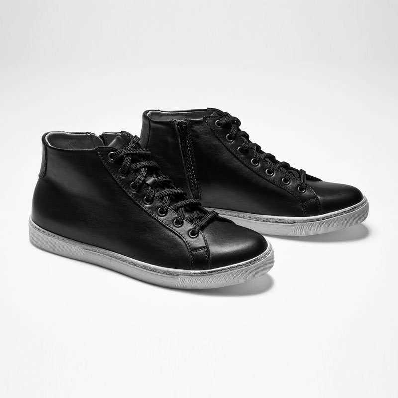 Sarah Pacini HIGH TOPS EN CUIR De face