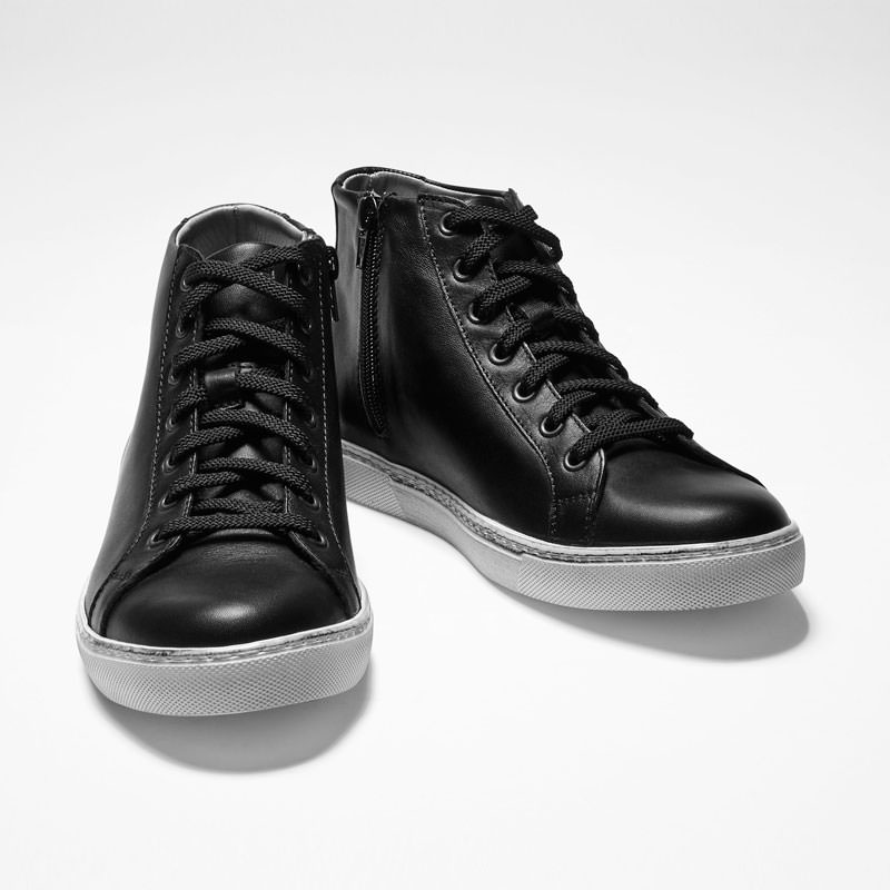 Sarah Pacini LEATHER HIGH TOPS Back view