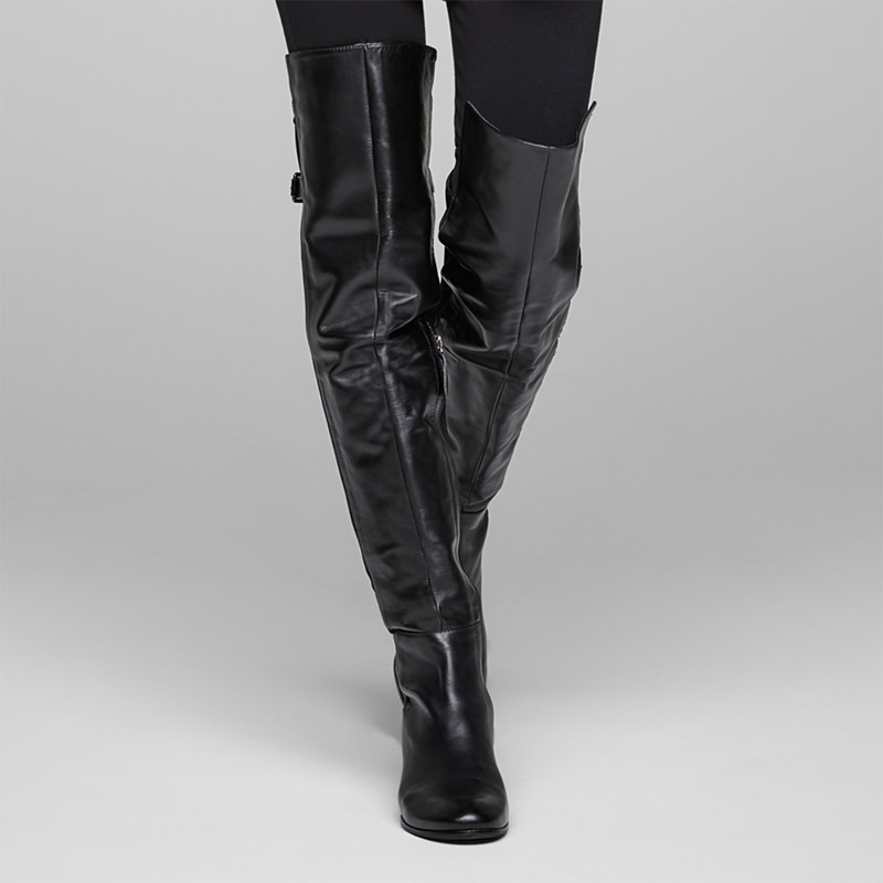 Sarah Pacini SUEDE THIGH BOOTS Front