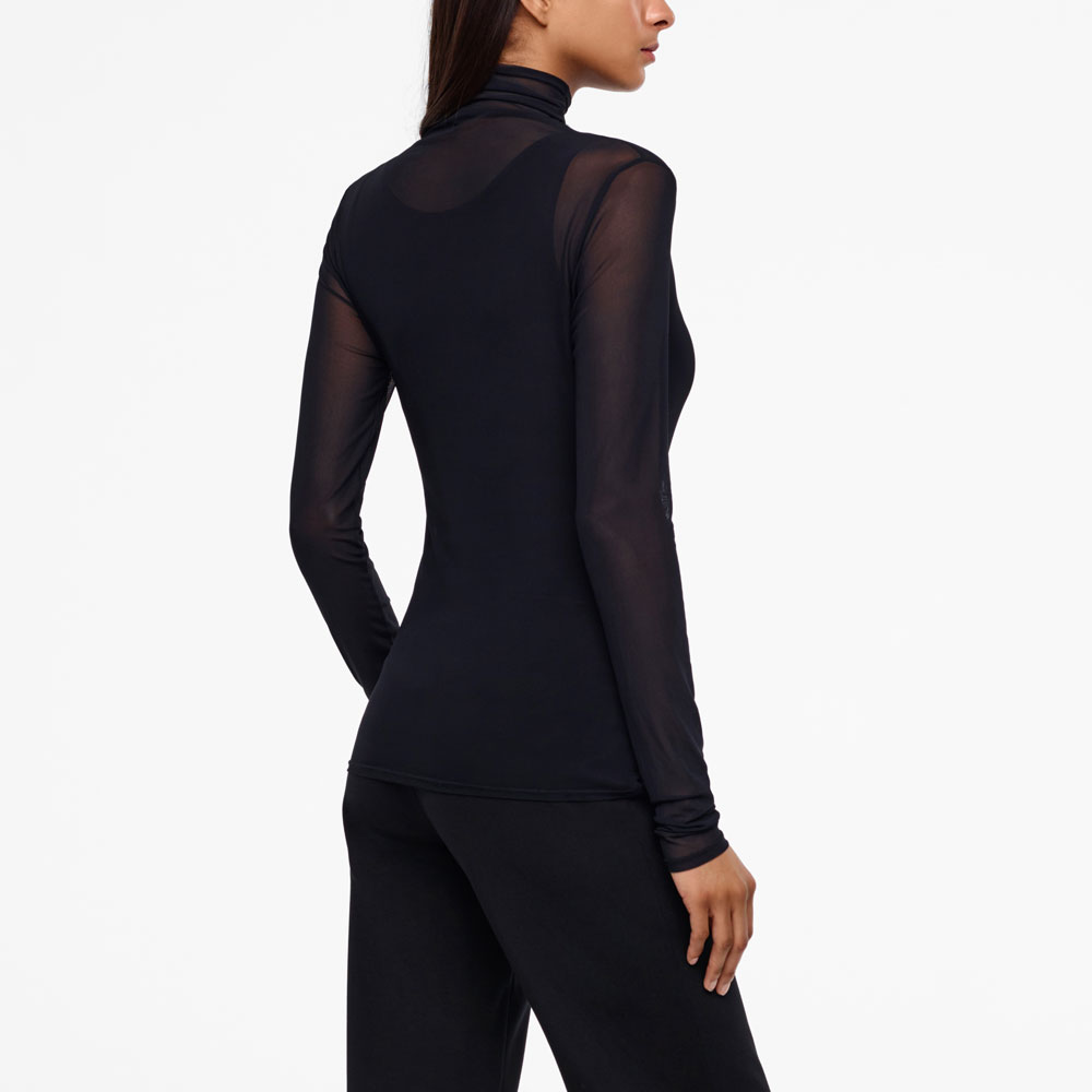 Sarah Pacini TRANSLUCENT TOP - YASMINE Back view