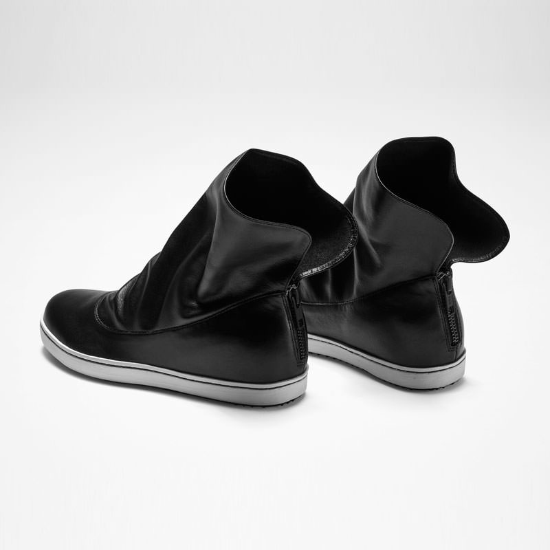 Sarah Pacini LEATHER LOW BOOTS Back view