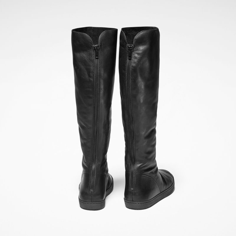 Sarah Pacini TALL LEATHER BOOTS Back view