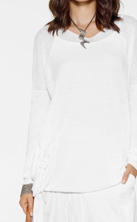 Sarah Pacini Lange Sjaal Look