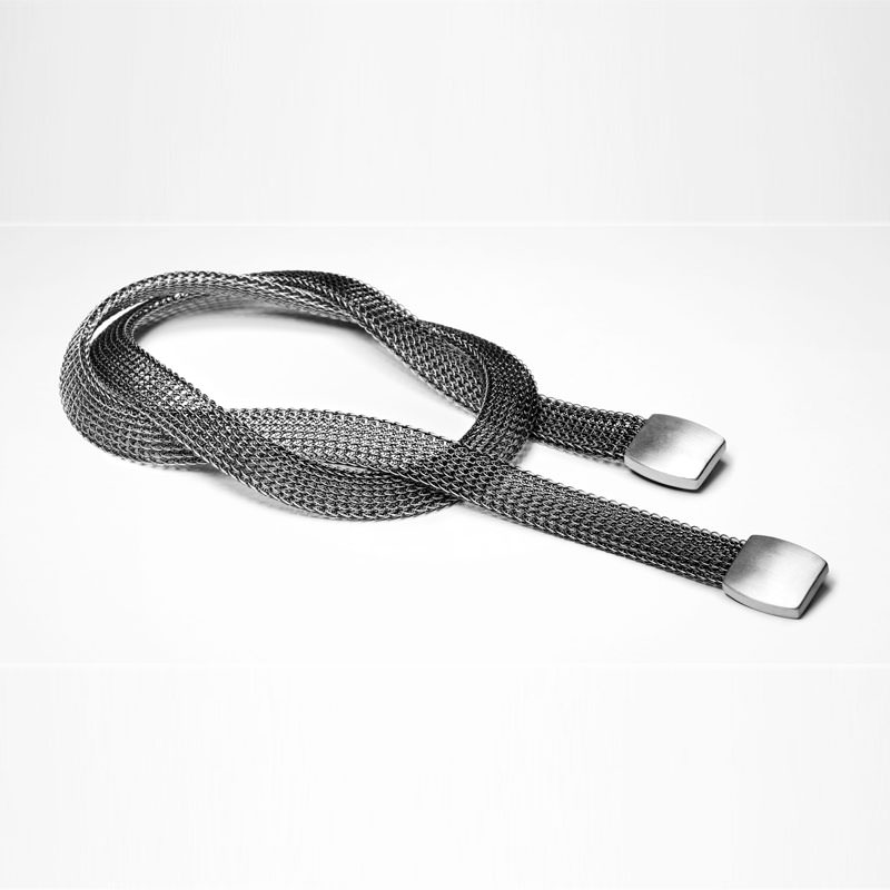Sarah Pacini SILVER BELT - CHAIN MAIL DESIGN Front