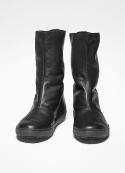 Sarah Pacini BOTTINES DE CUIR SOUPLE De face
