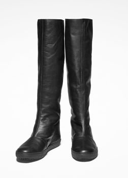 Sarah Pacini TALL LEATHER BOOTS Front