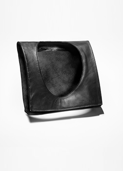 Sarah Pacini LEATHER SHOULDER BAG - SHOULDER Front
