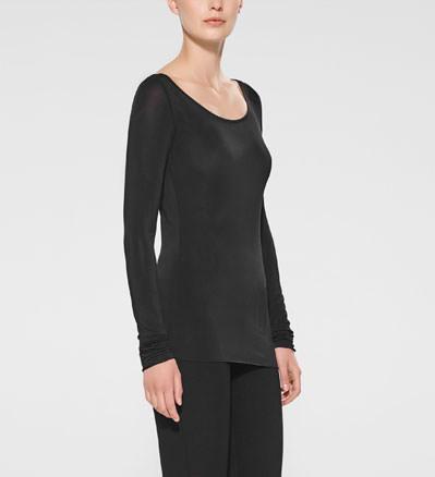 Sarah Pacini T-shirt à manches longues De face