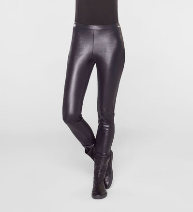 Sarah Pacini LONG LEGGINGS - LEATHER LOOK Front