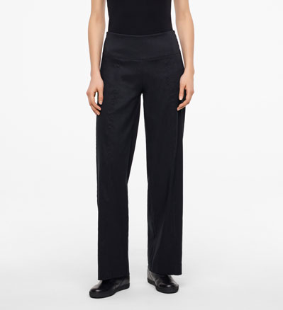 Sarah Pacini LINEN STRETCH PANTS - CHLOE Front