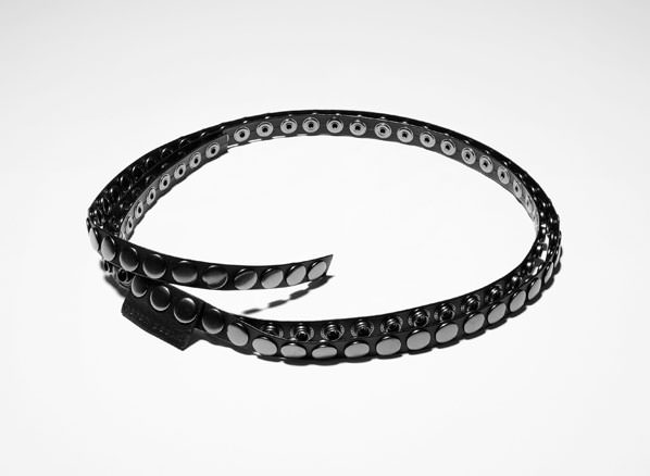 Sarah Pacini LEATHER BELT - STUDS Front