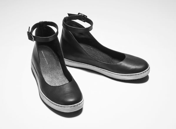 Sarah Pacini LEATHER BALLERINAS Front