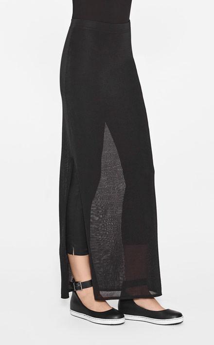 Wonderbaarlijk Zwarte lange rok met split - Sarah Pacini NJ-47