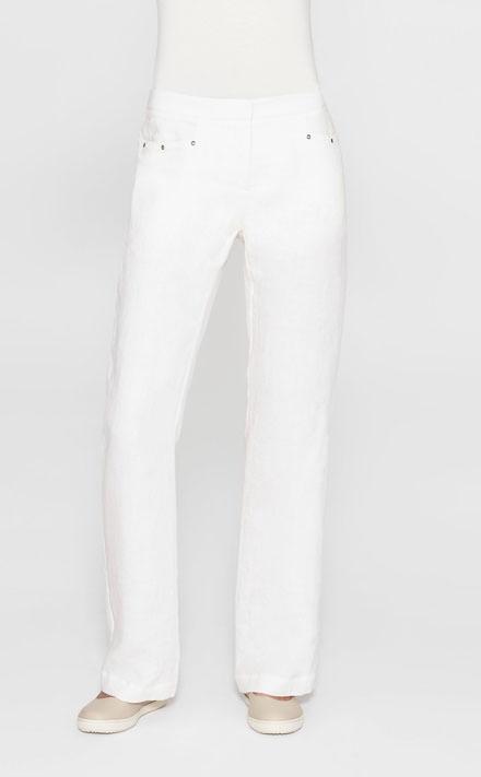 Verwonderlijk Gebroken witte linnen broek, uitlopende pijpen - Sarah Pacini AE-04