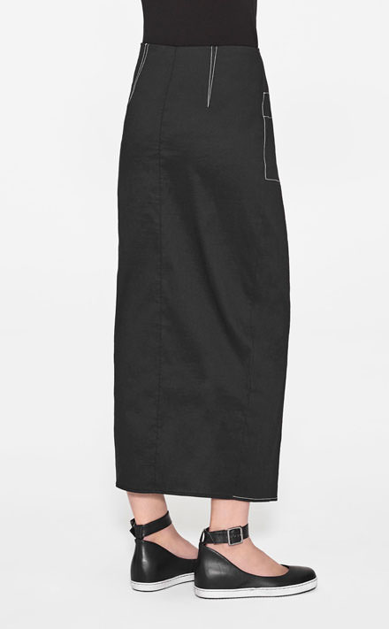 Sarah Pacini LONG STRAIGHT SKIRT Front