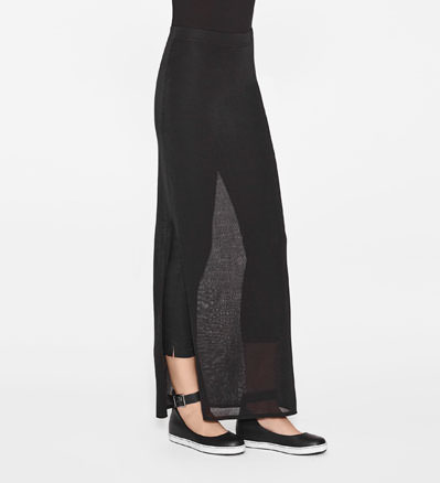 Sarah Pacini LONG SKIRT WITH SLIT Front
