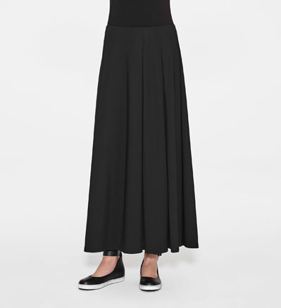 Sarah Pacini MAXI SKIRT WITH PLEATS Front