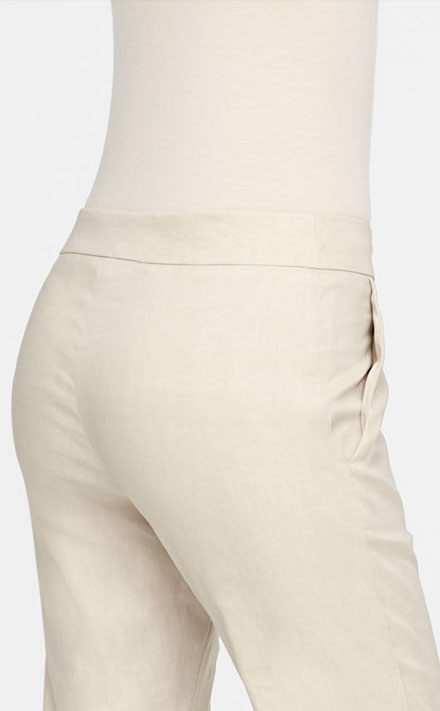 Sarah Pacini LINEN STRETCH PANTS - SYLVIE Back view