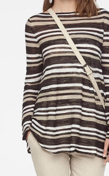 Sarah Pacini LINEN STRETCH PANTS - SYLVIE Look