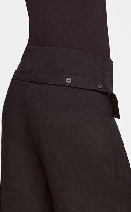 Sarah Pacini WIDE-LEG LINEN PANTS Back view