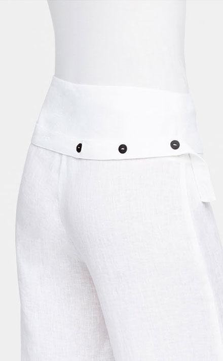 Fonkelnieuw Witte linnen broek met wijde pijpen - Sarah Pacini FM-34