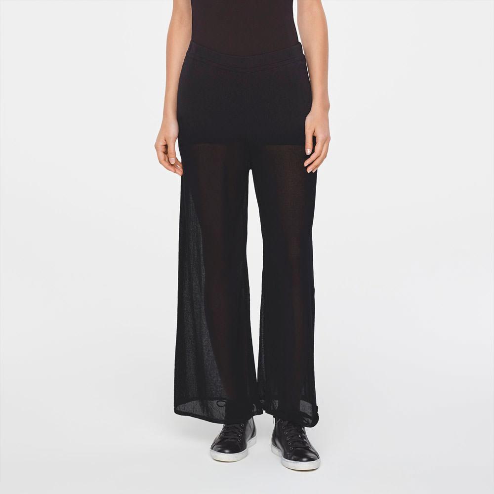 Sarah Pacini LIGHT COTTON PANTS-WIDE LEG Front