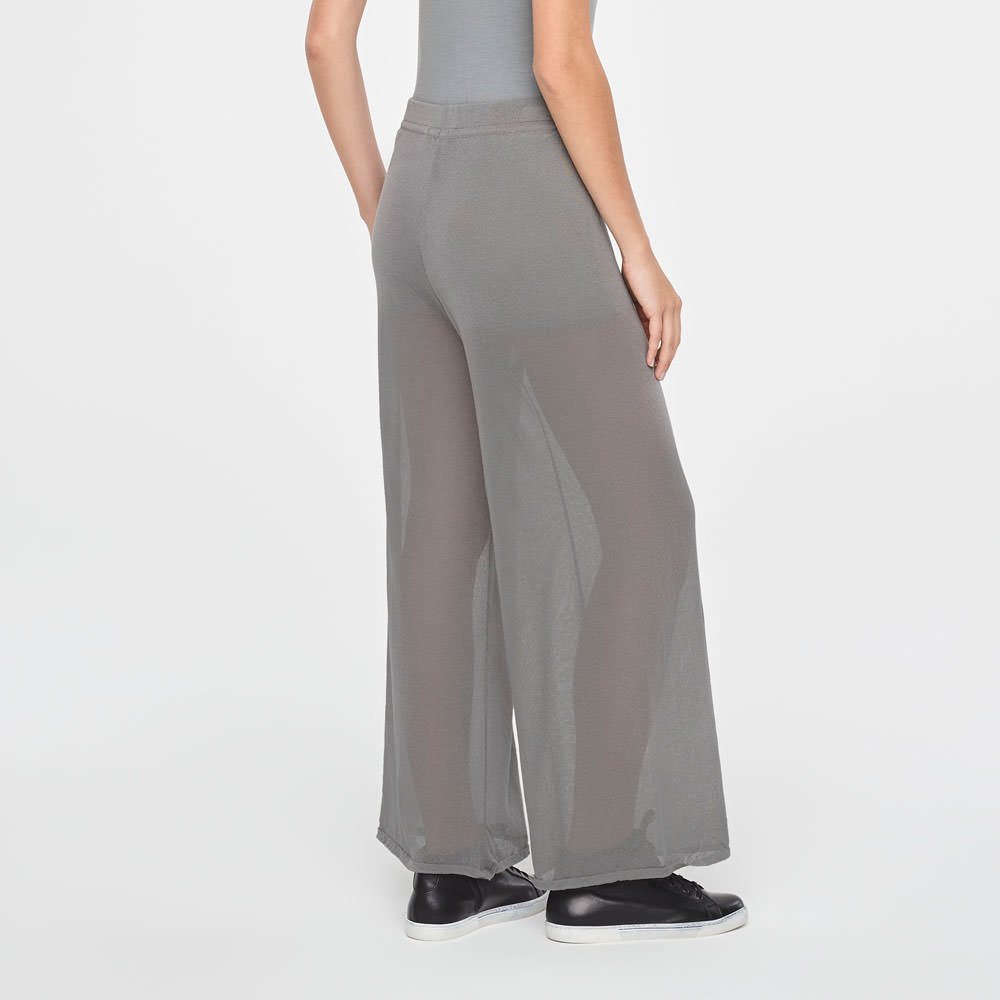 Sarah Pacini LIGHT COTTON PANTS-WIDE LEG Back view