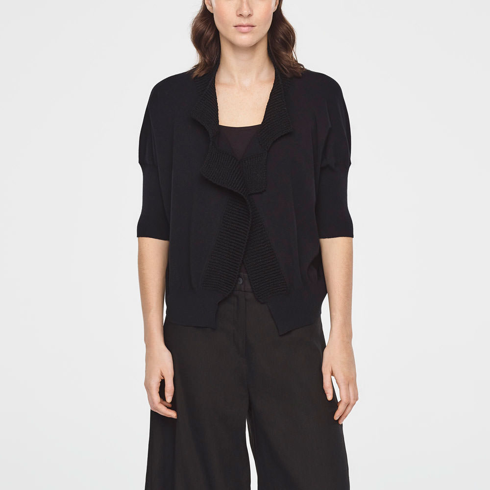 Sarah Pacini COTTON BOMBER - SHORT SLEEVES Front