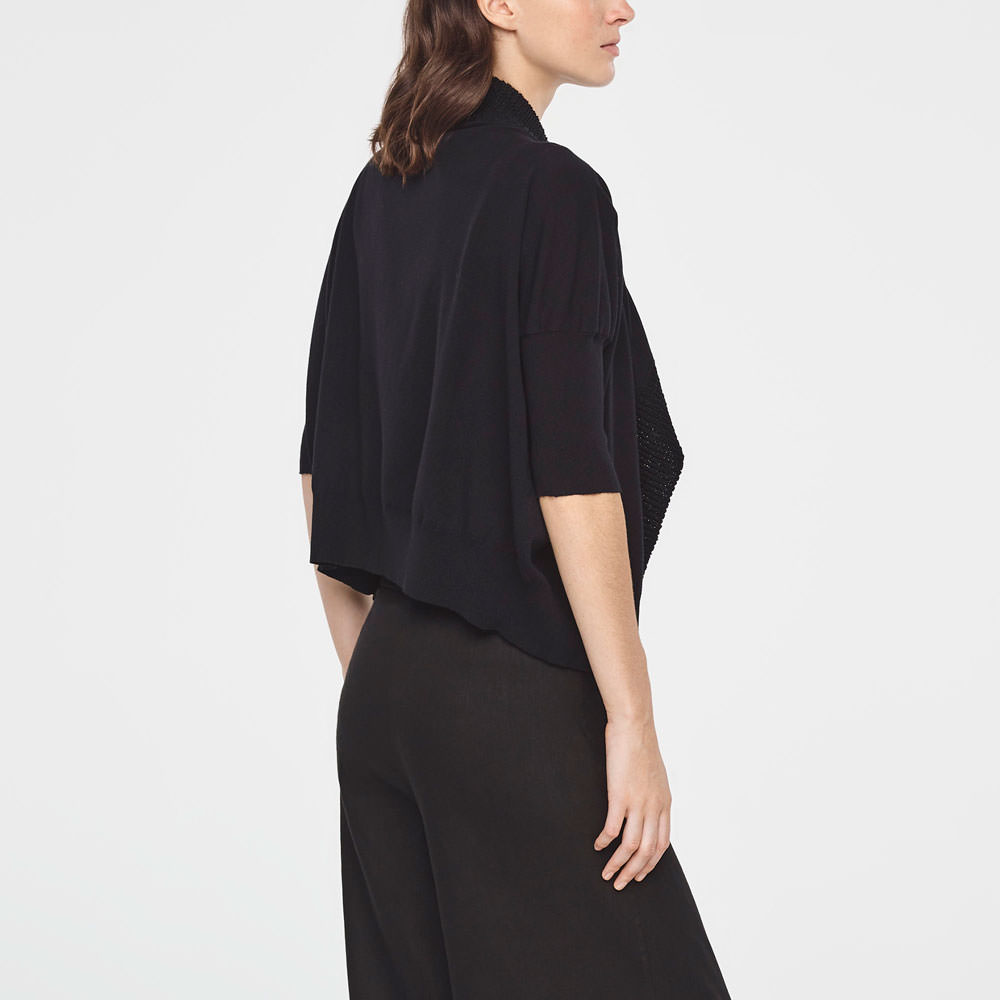 Sarah Pacini COTTON BOMBER - SHORT SLEEVES Back view